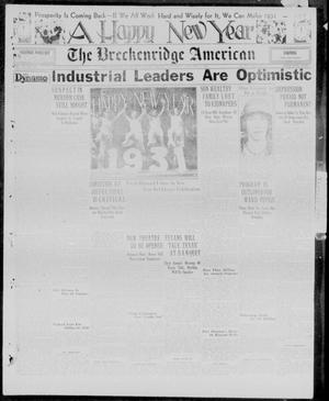 Primary view of object titled 'The Breckenridge American (Breckenridge, Tex.), Vol. 11, No. 27, Ed. 1, Thursday, January 1, 1931'.