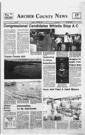 Primary view of object titled 'Archer County News (Archer City, Tex.), No. 44, Ed. 1 Thursday, November 1, 1984'.