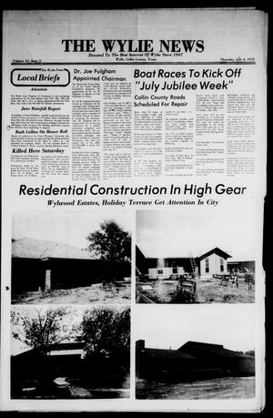 Primary view of object titled 'The Wylie News (Wylie, Tex.), Vol. 31, No. 3, Ed. 1 Thursday, July 6, 1978'.