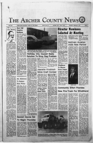 Primary view of object titled 'The Archer County News (Archer City, Tex.), Vol. 60TH YEAR, No. 5, Ed. 1 Thursday, February 3, 1977'.