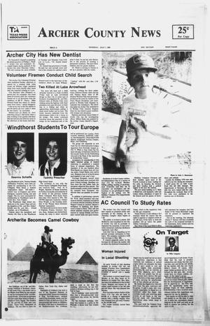 Primary view of object titled 'Archer County News (Archer City, Tex.), No. 27, Ed. 1 Thursday, July 7, 1983'.