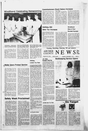 Primary view of object titled 'Archer County News (Archer City, Tex.), No. 38, Ed. 1 Thursday, September 15, 1983'.