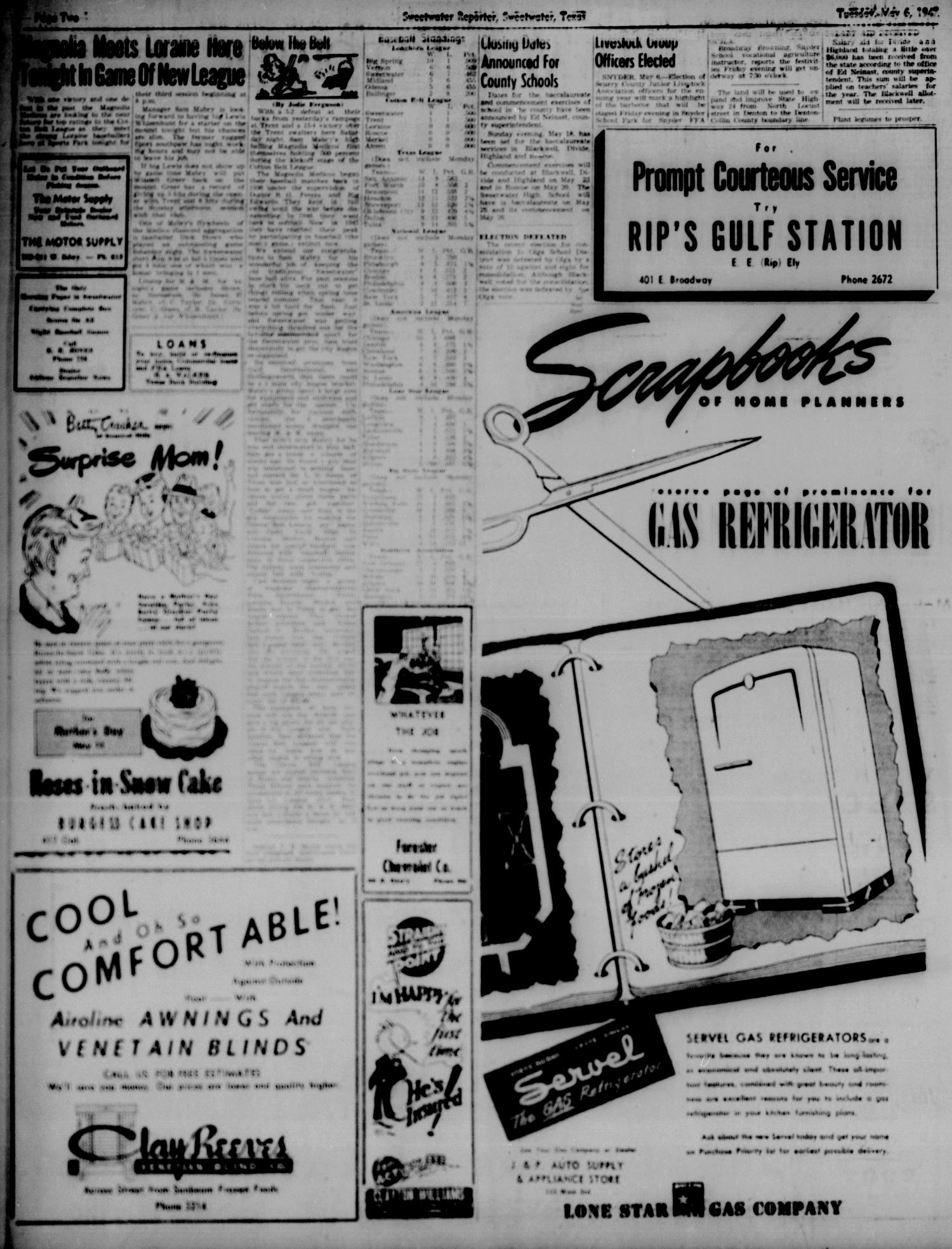 Sweetwater Reporter (Sweetwater, Tex.), Vol. 50, No. 108, Ed. 1 Tuesday, May 6, 1947                                                                                                      [Sequence #]: 2 of 6