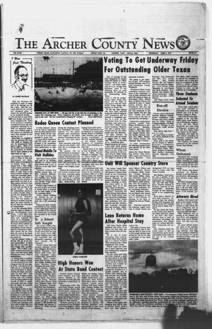 Primary view of object titled 'The Archer County News (Archer City, Tex.), Vol. 59TH YEAR, No. 22, Ed. 1 Thursday, June 3, 1976'.