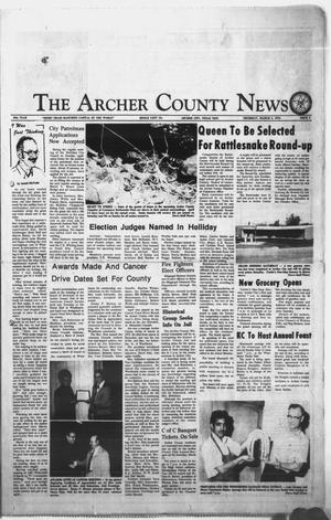 Primary view of object titled 'The Archer County News (Archer City, Tex.), Vol. 59TH YEAR, No. 9, Ed. 1 Thursday, March 4, 1976'.