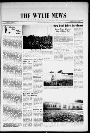 Primary view of object titled 'The Wylie News (Wylie, Tex.), Vol. 27, No. 5, Ed. 1 Thursday, July 25, 1974'.