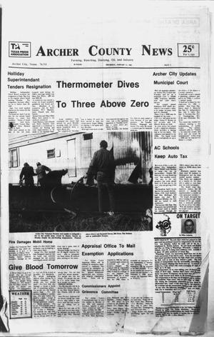 Primary view of object titled 'Archer County News (Archer City, Tex.), No. 2, Ed. 1 Thursday, January 14, 1982'.