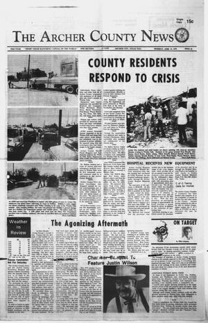Primary view of object titled 'The Archer County News (Archer City, Tex.), Vol. 62, No. 15, Ed. 1 Thursday, April 19, 1979'.