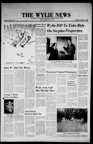 Primary view of object titled 'The Wylie News (Wylie, Tex.), Vol. 30, No. 37, Ed. 1 Thursday, March 2, 1978'.