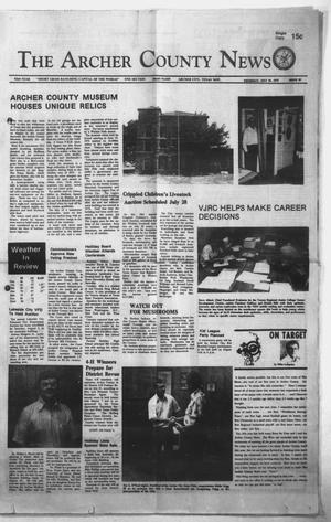 Primary view of object titled 'The Archer County News (Archer City, Tex.), Vol. 62nd YEAR, No. 29, Ed. 1 Thursday, July 26, 1979'.