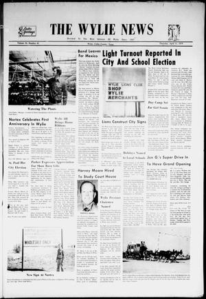 Primary view of object titled 'The Wylie News (Wylie, Tex.), Vol. 26, No. 42, Ed. 1 Thursday, April 11, 1974'.