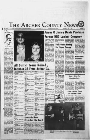 Primary view of object titled 'The Archer County News (Archer City, Tex.), Vol. 58TH YEAR, No. 50, Ed. 1 Thursday, December 11, 1975'.