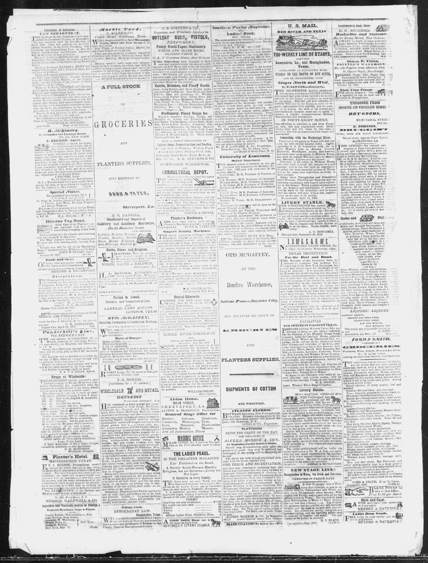 7b41a3acef Nacogdoches Chronicle. (Nacogdoches