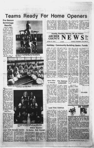 Primary view of object titled 'Archer County News (Archer City, Tex.), No. 36, Ed. 1 Thursday, September 4, 1980'.