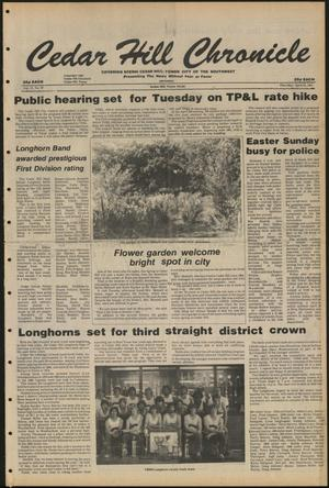 Cedar Hill Chronicle (Cedar Hill, Tex.), Vol. 17, No. 32, Ed. 1 Thursday, April 23, 1981