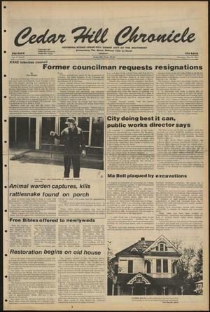 Cedar Hill Chronicle (Cedar Hill, Tex.), Vol. 17, No. 37, Ed. 1 Thursday, May 28, 1981
