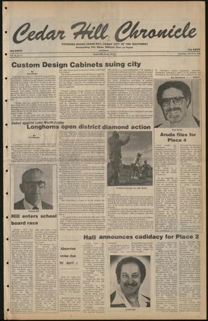 Cedar Hill Chronicle (Cedar Hill, Tex.), Vol. 16, No. 29, Ed. 1 Thursday, March 20, 1980