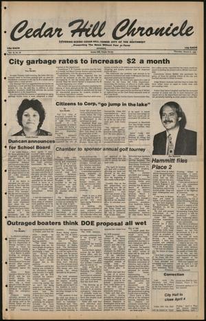 Cedar Hill Chronicle (Cedar Hill, Tex.), Vol. 16, No. 30, Ed. 1 Thursday, March 27, 1980