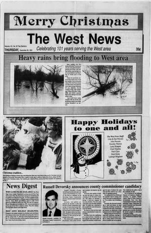 Primary view of object titled 'The West News (West, Tex.), Vol. 101, No. 52, Ed. 1 Thursday, December 26, 1991'.