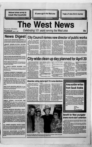 Primary view of object titled 'The West News (West, Tex.), Vol. 101, No. 15, Ed. 1 Thursday, April 11, 1991'.