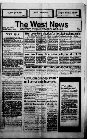 Primary view of object titled 'The West News (West, Tex.), Vol. 103, No. 11, Ed. 1 Thursday, March 18, 1993'.