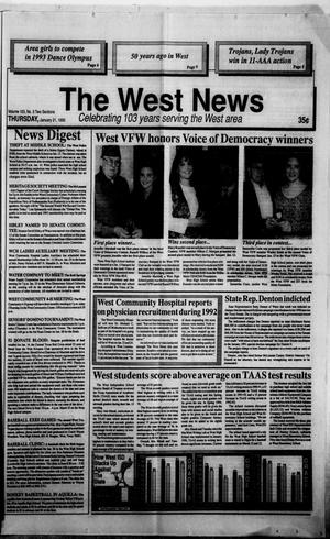 Primary view of object titled 'The West News (West, Tex.), Vol. 103, No. 3, Ed. 1 Thursday, January 21, 1993'.