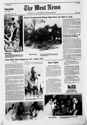 Primary view of object titled 'The West News (West, Tex.), Vol. 92, No. 32, Ed. 1 Thursday, July 1, 1982'.