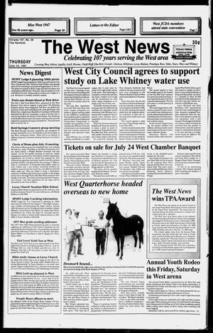Primary view of object titled 'The West News (West, Tex.), Vol. 107, No. 28, Ed. 1 Thursday, July 10, 1997'.