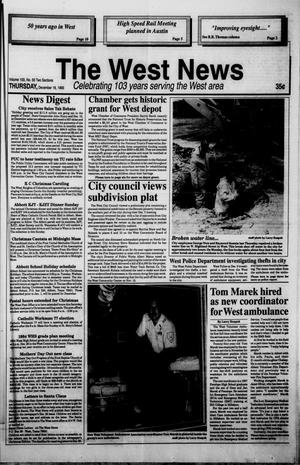 Primary view of object titled 'The West News (West, Tex.), Vol. 103, No. 50, Ed. 1 Thursday, December 16, 1993'.