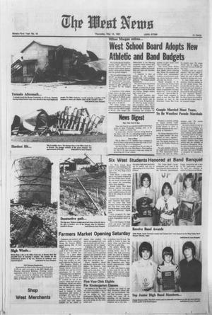 Primary view of object titled 'The West News (West, Tex.), Vol. 91, No. 19, Ed. 1 Thursday, May 14, 1981'.