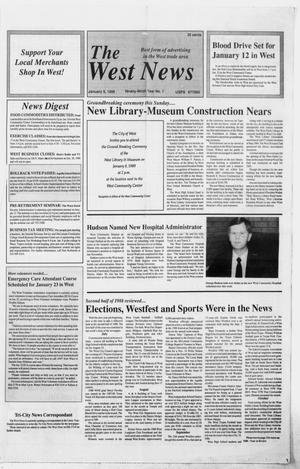 Primary view of object titled 'The West News (West, Tex.), Vol. 99, No. 1, Ed. 1 Thursday, January 5, 1989'.