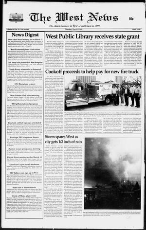 Primary view of object titled 'The West News (West, Tex.), Vol. 109, No. 10, Ed. 1 Thursday, March 11, 1999'.