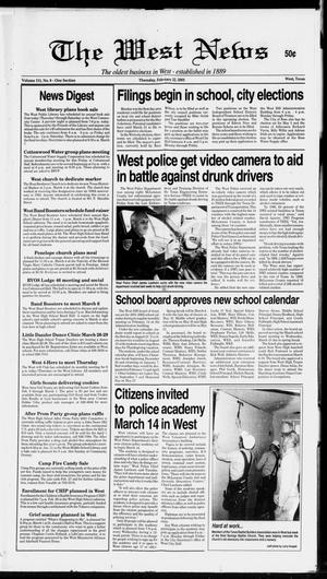 Primary view of object titled 'The West News (West, Tex.), Vol. 111, No. 8, Ed. 1 Thursday, February 22, 2001'.