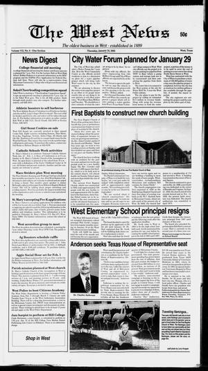 Primary view of object titled 'The West News (West, Tex.), Vol. 112, No. 4, Ed. 1 Thursday, January 24, 2002'.