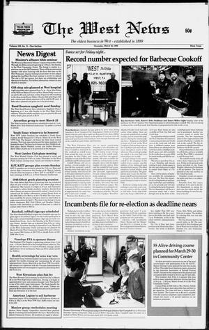Primary view of object titled 'The West News (West, Tex.), Vol. 109, No. 11, Ed. 1 Thursday, March 18, 1999'.
