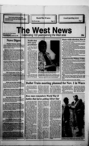 Primary view of object titled 'The West News (West, Tex.), Vol. 103, No. 43, Ed. 1 Thursday, October 28, 1993'.