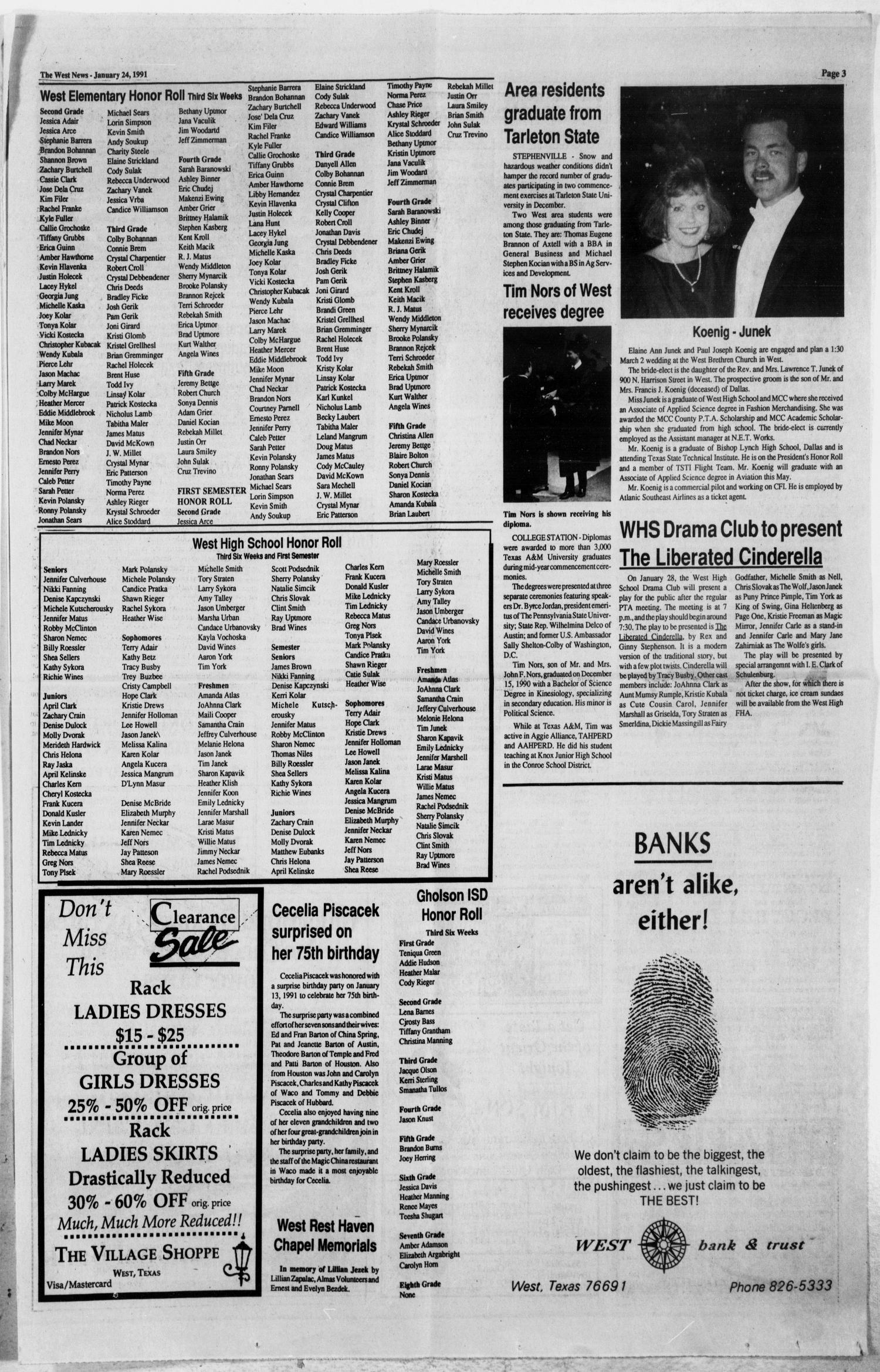 The West News (West, Tex.), Vol. 101, No. 4, Ed. 1 Thursday, January ...