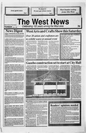 Primary view of object titled 'The West News (West, Tex.), Vol. 102, No. 27, Ed. 1 Thursday, July 9, 1992'.
