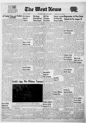 Primary view of object titled 'The West News (West, Tex.), Vol. 78, No. 17, Ed. 1 Friday, August 16, 1968'.