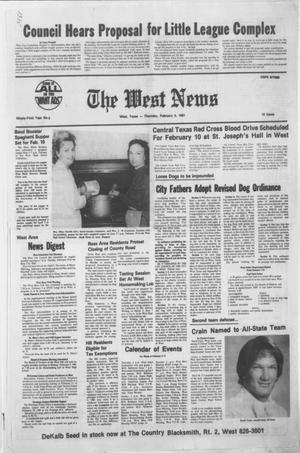 Primary view of object titled 'The West News (West, Tex.), Vol. 91, No. 5, Ed. 1 Thursday, February 5, 1981'.