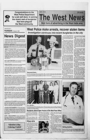 Primary view of object titled 'The West News (West, Tex.), Vol. 99, No. 5, Ed. 1 Thursday, February 2, 1989'.