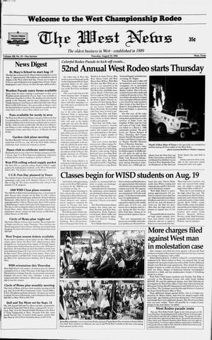 Primary view of object titled 'The West News (West, Tex.), Vol. 108, No. 33, Ed. 1 Thursday, August 13, 1998'.
