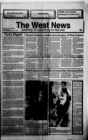 Primary view of object titled 'The West News (West, Tex.), Vol. 103, No. 2, Ed. 1 Thursday, January 14, 1993'.