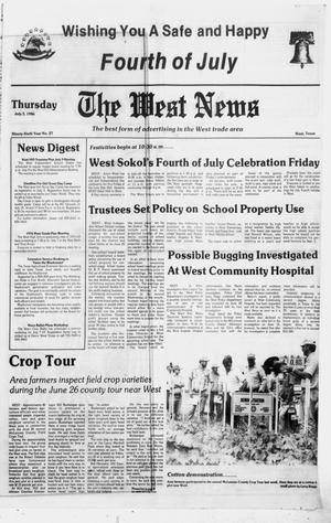Primary view of object titled 'The West News (West, Tex.), Vol. 96, No. 27, Ed. 1 Thursday, July 3, 1986'.