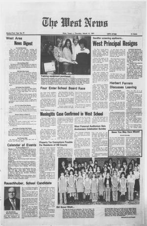 Primary view of object titled 'The West News (West, Tex.), Vol. 91, No. 10, Ed. 1 Thursday, March 12, 1981'.
