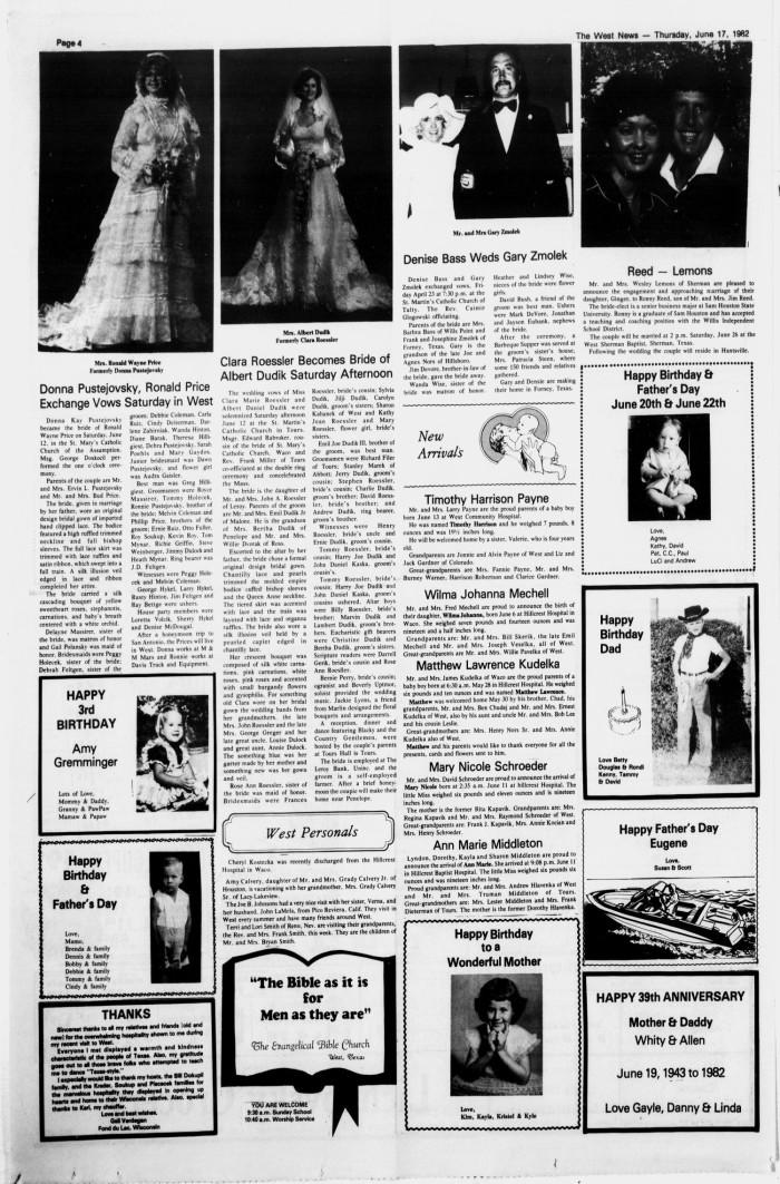 The West News (West, Tex.), Vol. 92, No. 30, Ed. 1 Thursday, June 17 ...