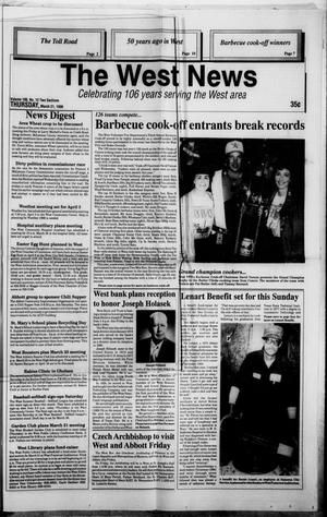 Primary view of object titled 'The West News (West, Tex.), Vol. 106, No. 12, Ed. 1 Thursday, March 21, 1996'.