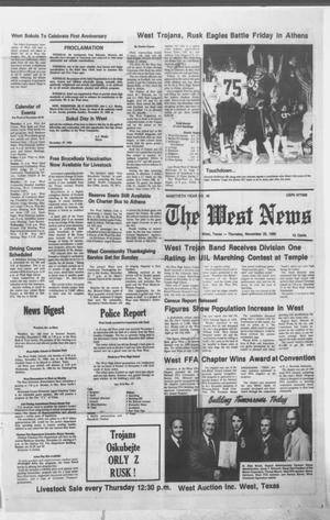 Primary view of object titled 'The West News (West, Tex.), Vol. 90, No. 46, Ed. 1 Thursday, November 20, 1980'.