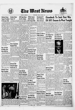 Primary view of object titled 'The West News (West, Tex.), Vol. 81, No. 25, Ed. 1 Friday, October 8, 1971'.