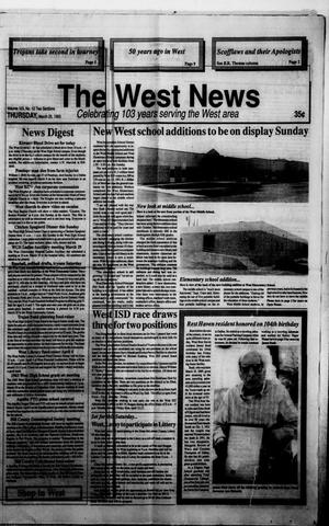 Primary view of object titled 'The West News (West, Tex.), Vol. 103, No. 12, Ed. 1 Thursday, March 25, 1993'.